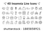 bundle of insomnia line style... | Shutterstock .eps vector #1885858921