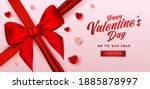 valentine's day sale poster or...   Shutterstock .eps vector #1885878997