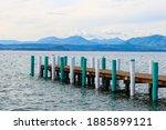 Wooden Bridge On Lake Garda