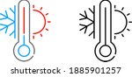 cooling and heating system icon ... | Shutterstock .eps vector #1885901257