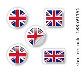 flags of british. | Shutterstock .eps vector #188591195