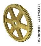 Aged Brass Spur Gear 3d...
