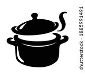 the soup pot is boiling  vector | Shutterstock .eps vector #1885991491