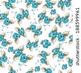 small blue flowers seamless... | Shutterstock .eps vector #188599961