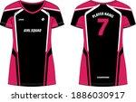 women sports t shirt jersey... | Shutterstock .eps vector #1886030917