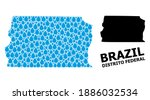 vector mosaic and solid map of... | Shutterstock .eps vector #1886032534