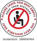please leave this seat empty or ... | Shutterstock .eps vector #1886069464