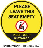 please leave this seat empty or ... | Shutterstock .eps vector #1886069467