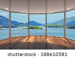 empty modern lounge area with... | Shutterstock . vector #188610581