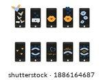 Smartphone Icons In Retro Style....