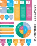 flat infographics element set
