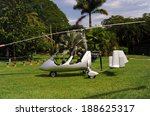 autogyro parked on the private... | Shutterstock . vector #188625317