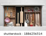 Drawer With Utensil Set  Top...