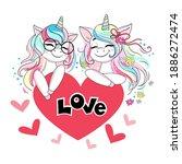 Two Beautiful Unicorns Are...