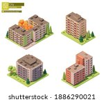 vector isometric buildings and...   Shutterstock .eps vector #1886290021