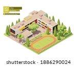 vector isometric small modern...   Shutterstock .eps vector #1886290024