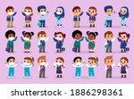 set of variety school uniforms... | Shutterstock .eps vector #1886298361
