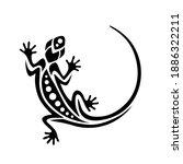 gecko lizard maori style....   Shutterstock .eps vector #1886322211