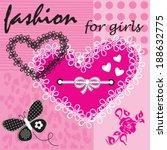beautiful heart love card...   Shutterstock .eps vector #188632775