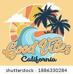 California Coast Surf Vector...