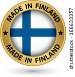 made in finland gold label with ... | Shutterstock .eps vector #188633357