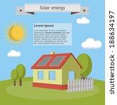 solar energy panels house...   Shutterstock .eps vector #188634197