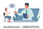 online psychological support.... | Shutterstock .eps vector #1886349241