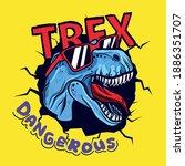 dangerous dinosaur character...   Shutterstock .eps vector #1886351707
