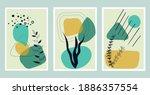underwater wall art vector set. ...   Shutterstock .eps vector #1886357554