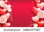 valentine s day background with ... | Shutterstock .eps vector #1886357587