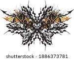 unusual butterfly wings with... | Shutterstock .eps vector #1886373781