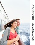 romantic couple on cruise ship... | Shutterstock . vector #188638739