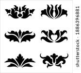 ornamental flowers silhouette....   Shutterstock .eps vector #1886396881