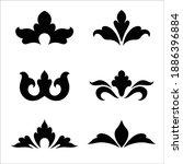 ornamental flowers silhouette....   Shutterstock .eps vector #1886396884