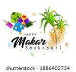 creative happy makar sankranti... | Shutterstock .eps vector #1886402734