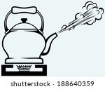 tea kettle on gas stove....