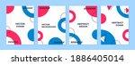 vector set of abstract... | Shutterstock .eps vector #1886405014