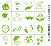 eco friendly icons set | Shutterstock .eps vector #188640635