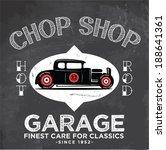 retro garage poster for apparel ... | Shutterstock .eps vector #188641361
