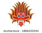 sri lankan dancing devil mask... | Shutterstock .eps vector #1886420344