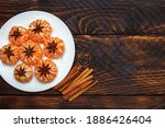 Tangerines In A White Plate...