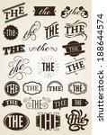 calligraphic text decoration... | Shutterstock .eps vector #188644574