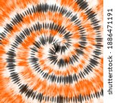 tie dye orange black watercolor ... | Shutterstock .eps vector #1886471191