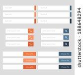 flat web design elements.... | Shutterstock .eps vector #188648294