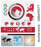 world map  vector set | Shutterstock .eps vector #188649077