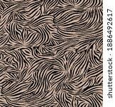 seamless zebra pattern  animal... | Shutterstock .eps vector #1886492617