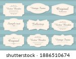 vector set of calligraphic... | Shutterstock .eps vector #1886510674
