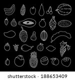 tropical fruits. hand drawn... | Shutterstock .eps vector #188653409