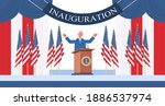 usa inauguration day concept... | Shutterstock .eps vector #1886537974