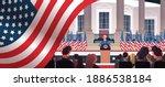 president democrat winner of... | Shutterstock .eps vector #1886538184